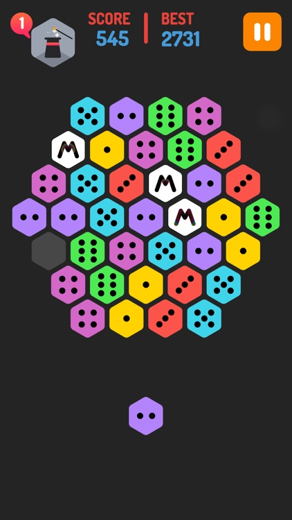 Merge Blocks - Merging hexagon puzzle fun game, rotate and merged screenshot-4