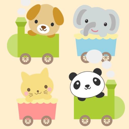 どうぶつ電車 - いろんな動物の電車を走らせよう【子供が喜ぶ知育アプリ】