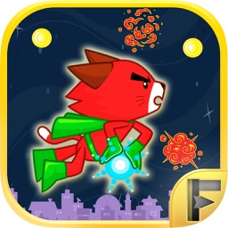 Superhero Cat Paw Battle vs Alien Attack Patrol Game Free