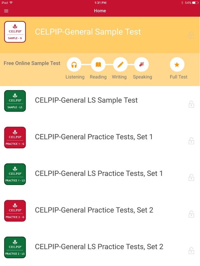 CELPIP® Practice Test on the App Store