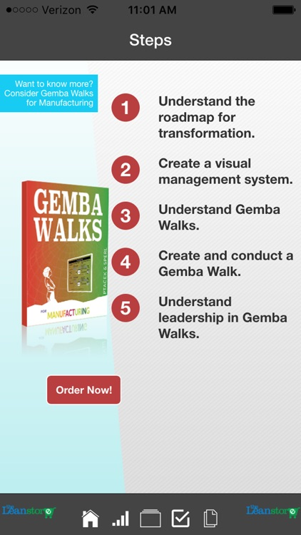 Manufacturing Lean Roadmap and Gemba Walk
