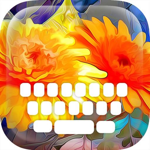 Custom Keyboard Flat Design : Color & Wallpaper Keyboard Art Effects Themes
