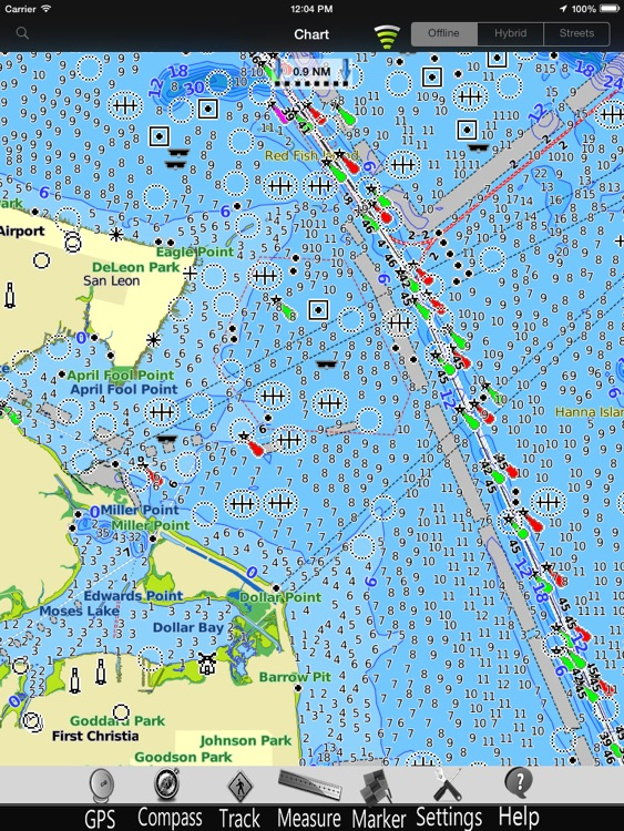 Texas GPS Nautical Charts Pro screenshot-1