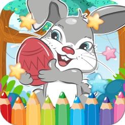 Ausmalbilder Buch Kaninchen Zeichnung Kostenloses Lernen