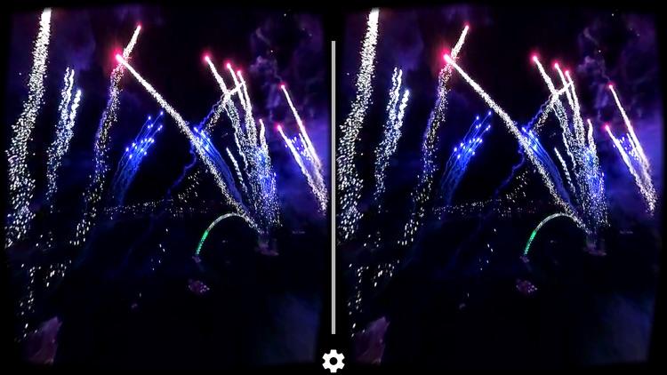 VR Virtual Reality Drone Flight inside Fireworks screenshot-3