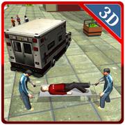3D救护车司机模拟器 - 紧急车辆驾驶和停车游戏