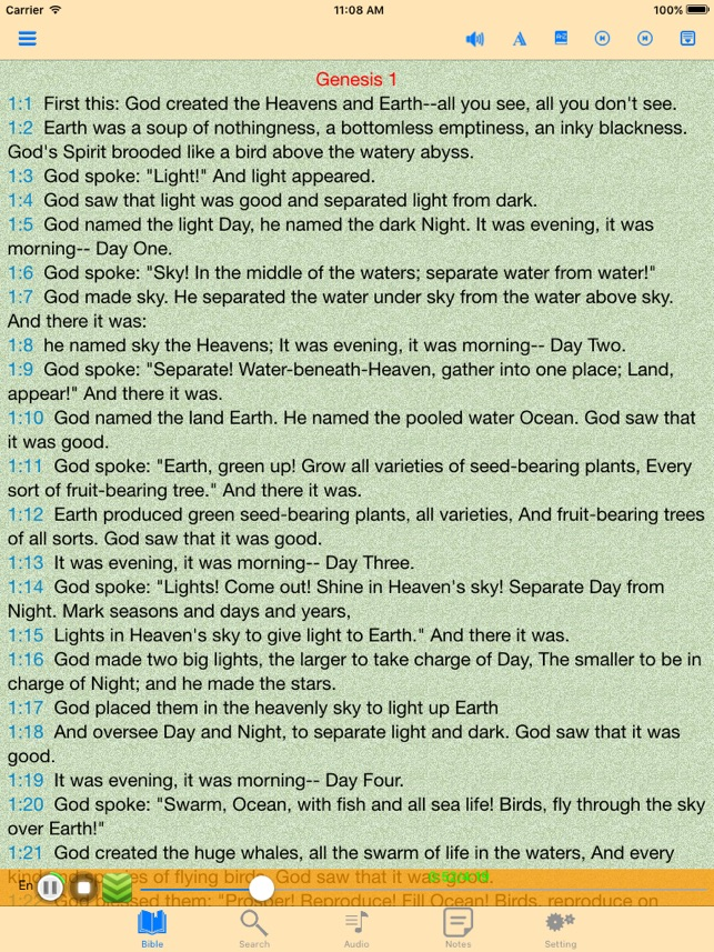 The Message Audio Bible offline scriptures on the App Store