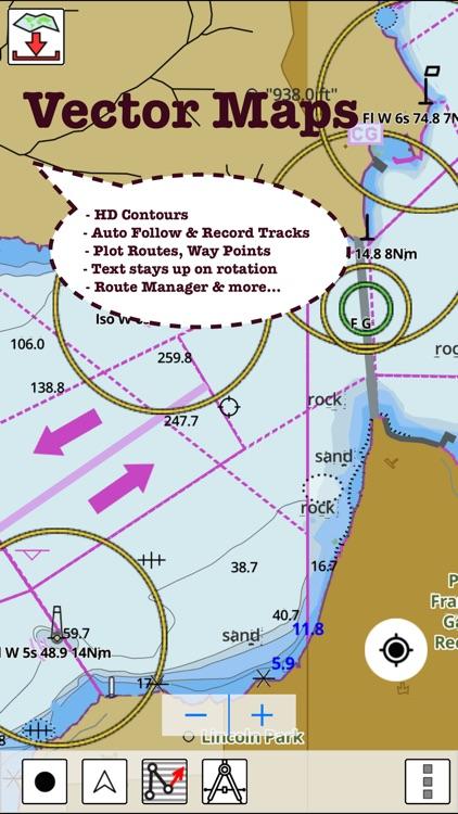 Marine Navigation - Canada - Offline Gps Nautical Charts for Fishing, Sailing and Boating screenshot-4