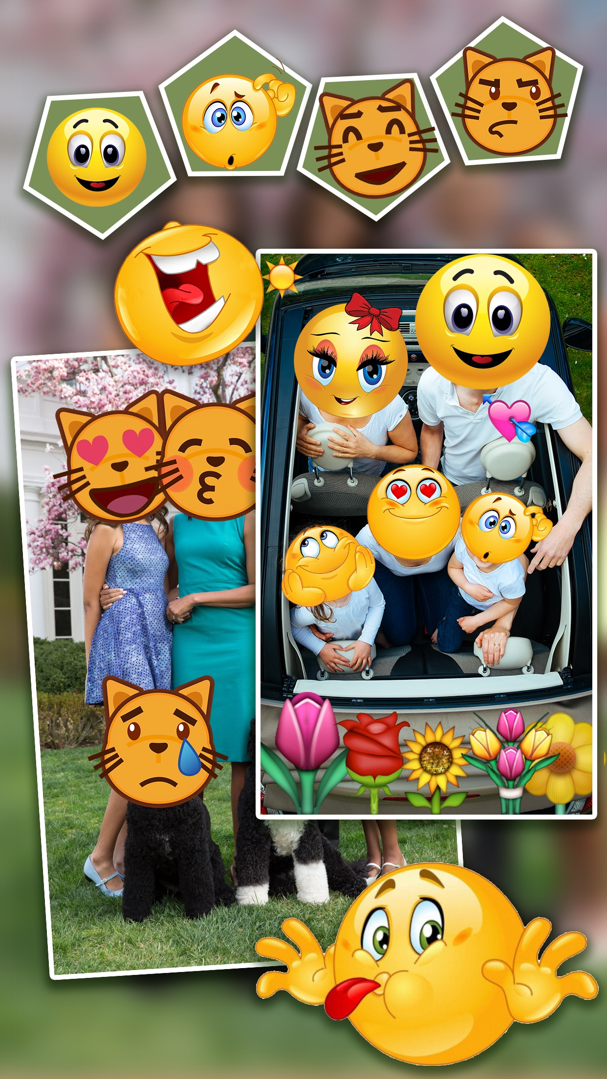 Emoji.s Photo Editor - Add Funny Cool Emoticon Sticker.s & Smiley Face.s to Your Picture Screenshot
