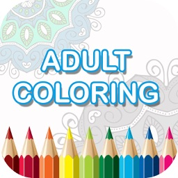 Adult Coloring Book - Free Mandala Colors Therapy Stress Relieving Pages