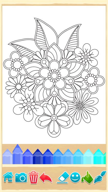 Mandala Coloring Pages Game Screenshot 1