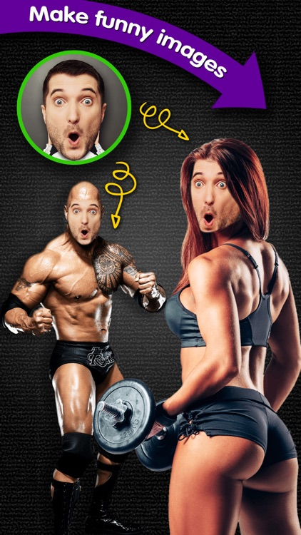 Muscle Face Swap - Visage Blender to Combine Yr Selfie with Hole of Fitness Photo