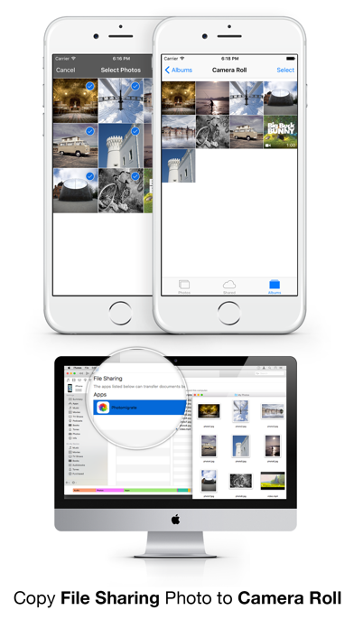 Photomigrate - Easily transfer photos & videos to camera