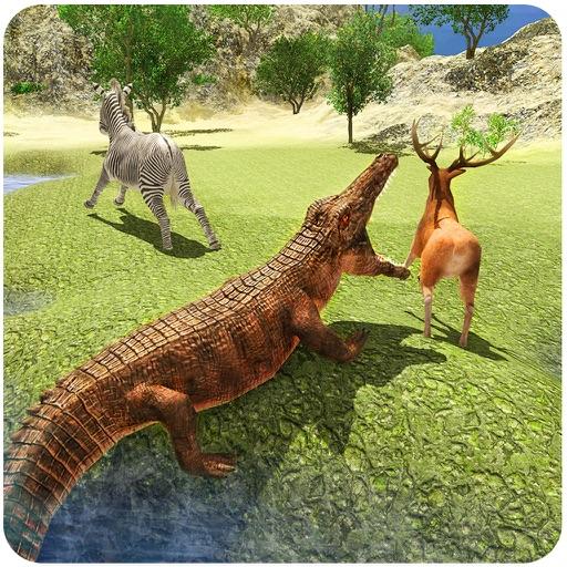 Злой крокодил Атака 3D - Моделирование Свирепый Swamp Рептилий