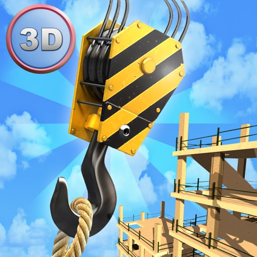 Tower Crane 3D Simulator Full - Start a construction, build a city! icon