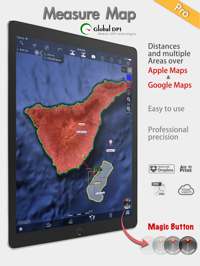 Measure Map Pro. By Global DPI Screenshot
