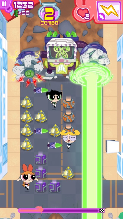 Flipped Out – The Powerpuff Girls Match 3 Puzzle / Fighting Action Game screenshot-2