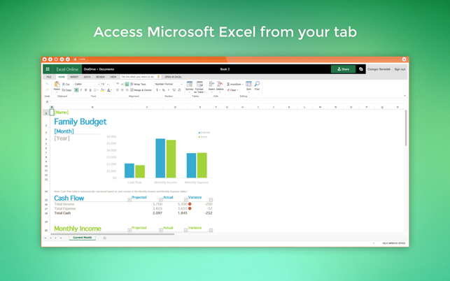 Sheets for MS Excel - Menu Tab Bar dans le Mac App Store