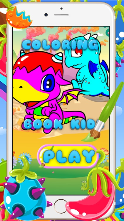 Coloring Books For Kids - Drawing Painting The Good Dragon Games by ...