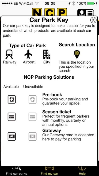 NCP Car Park Finder