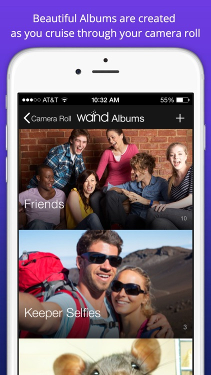 Wand™ - Organize Camera Roll Photos into Beautiful Albums