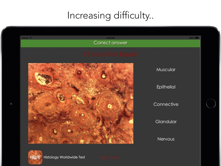 Histology Worldwide Test Lite for iPad screenshot-3