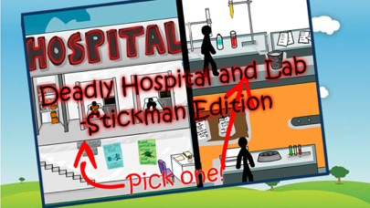 Deadly Hospital and Lab - Stickman Edition screenshot one