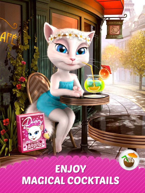 Talking Angela for iPad screenshot-1