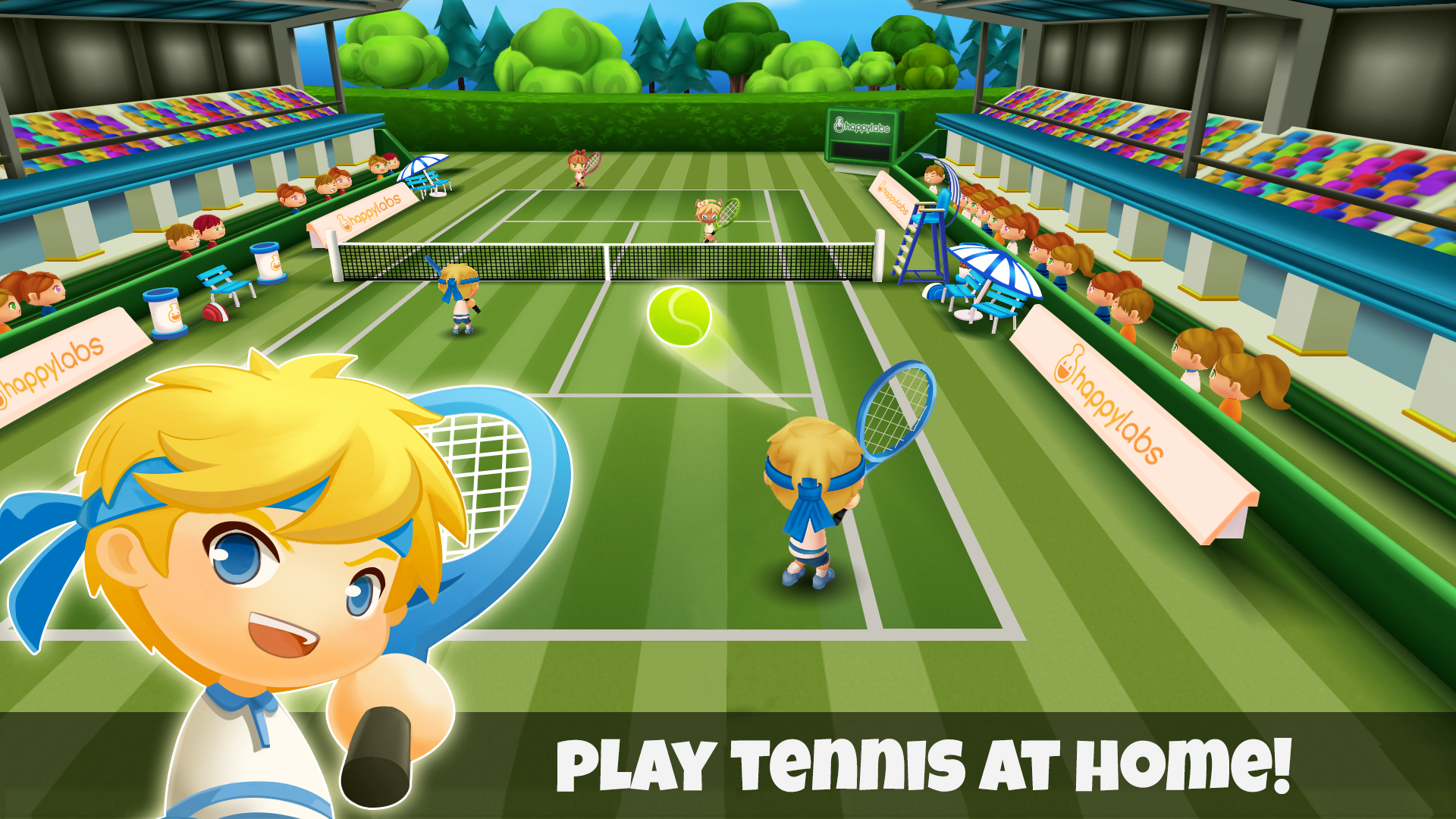 Happy Tennis screenshot 1