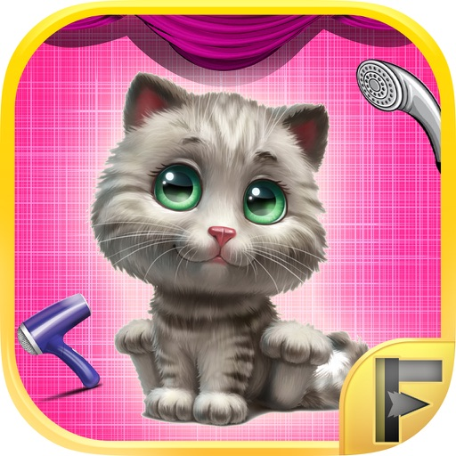 My Pet Kitty Care Wash & Dressup Makeover Salon Adventure - Free Games For Kids Icon