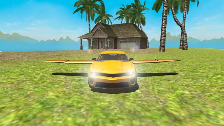 Flying Car Driving Simulator Free: Extreme Muscle Car - Airplane Flight Pilot screenshot-3