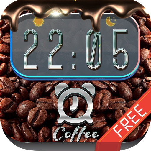 iClock – Coffee : Alarm Clock Wallpapers , Frames and Quotes Maker For Free