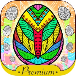 Easter mandalas coloring book Secret Garden colorfy game for adults - Premium