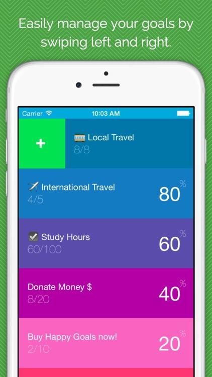 Happy Goals - Habits & Goal Tracker screenshot-3