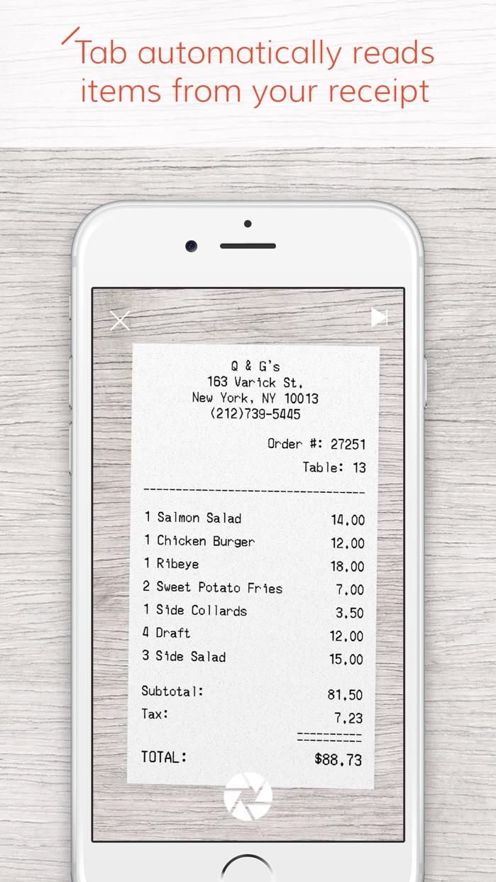 Tab - The simple bill splitter Screenshot