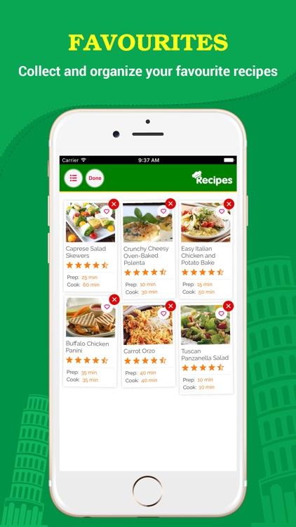 Yummy Italian Recipes Pro screenshot-3