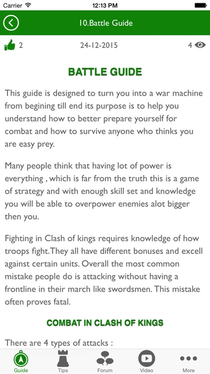 Guide for Clash of Kings with Tips, Forum & More