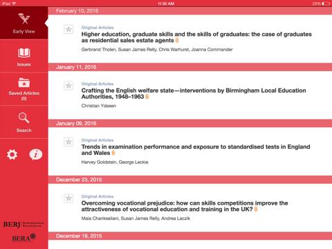 Screenshot of British Educational Research Journal