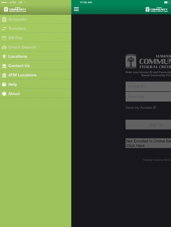 Hawaii Community FCU iPad Version