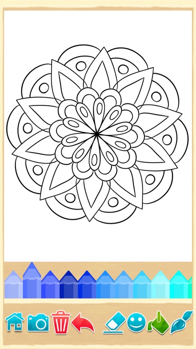 Mandala Coloring Pages Game By 2 Monkeys IOS United Kingdom