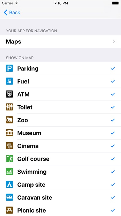Leisuremap United Kingdom, Camping, Golf, Swimming, Car parks, and more screenshot-4