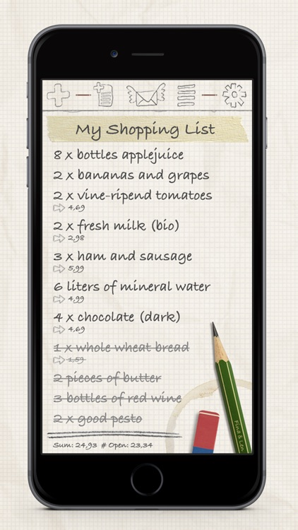 Shopping List / Grocery List