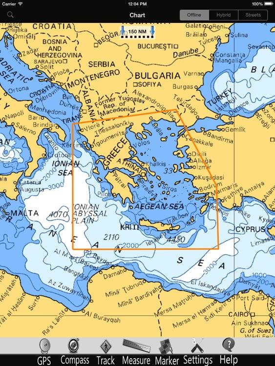 Greece GPS Nautical Charts Pro screenshot-4