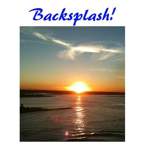 Backsplash - Overlay any photo on a white background and add your text captions