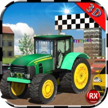 Tractor Racing With Cars