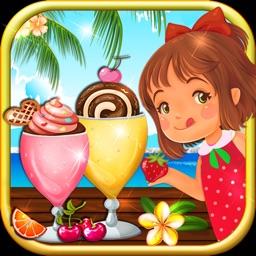 Chocolate ice cream dessert marker: Frozen strawberry yogurt milkit & party food