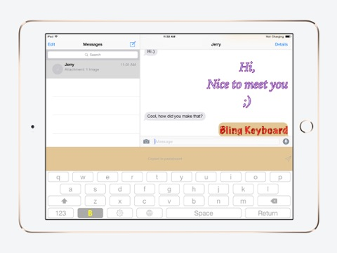 Bling Keyboard - Send Text in Bling Bling Animated Gif, Glitter Text