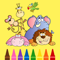 Coloring Pages For Kids : Learn To Paint Games For 3 , 4 , 5 Years Old