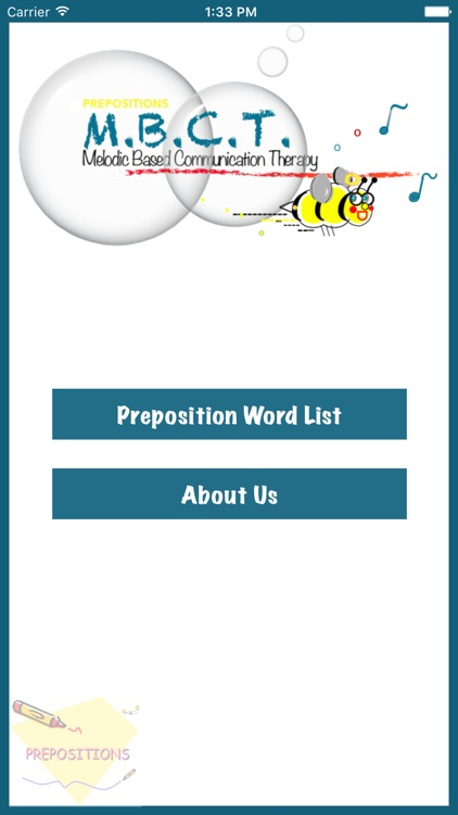 Melodic Based Communication Therapy - Prepositions