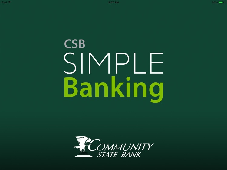 CSB Simple Banking for iPad screenshot-0